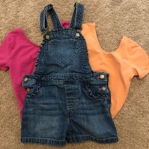 Two June & January bodysuit and overalls